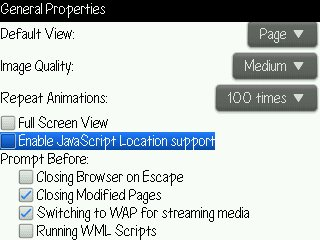 Enable Java Script Location Support Trik Membuat Baterai Blackberry Tidak Cepat Habis tips guide