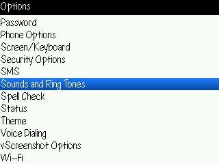 Sounds and Ringtone menu Trik Membuat Baterai Blackberry Tidak Cepat Habis tips guide