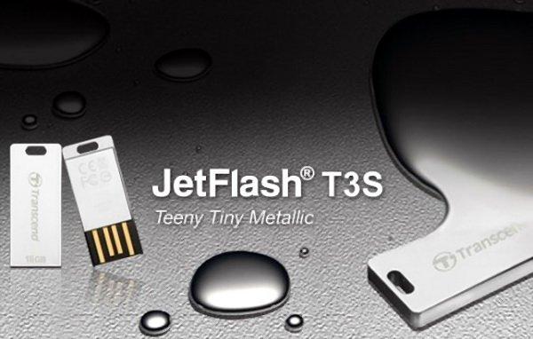 T3S100 Transcend JetFlash T3S: Flashdisk Perak yang Tangguh aksesoris komputer komputer