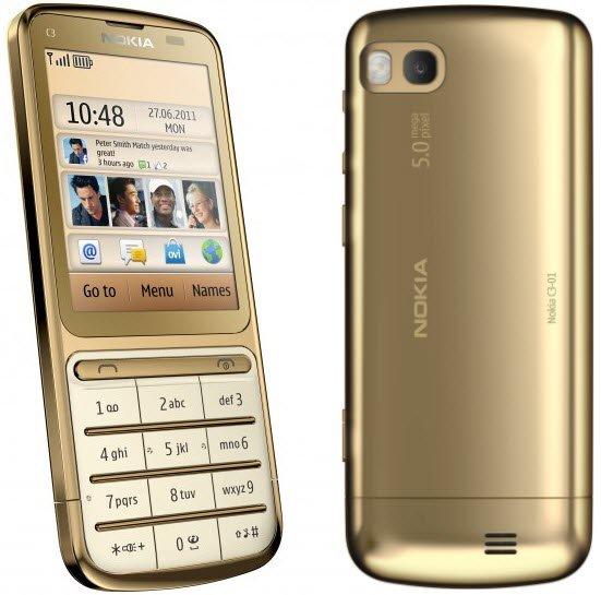 nokia c3 01 gold edition Nokia C3 01 Gold Edition:Dengan Prosesor 1GHz dan Balutan Emas 18 Karat mobile gadget