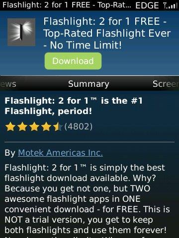 torch02 Rekomendasi: 3 Aplikasi Senter untuk BlackBerry aplikasi