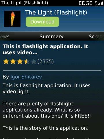 torch03 Rekomendasi: 3 Aplikasi Senter untuk BlackBerry aplikasi