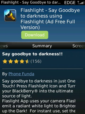 torch04 Rekomendasi: 3 Aplikasi Senter untuk BlackBerry aplikasi