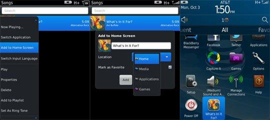 Add media file to homescreen OS7 Tips : Menambahkan Musik, Video atau Gambar di Homescreen Blackberry OS7 tips