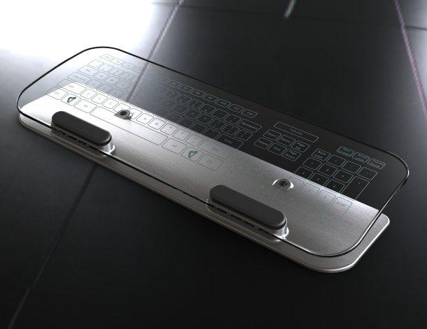 Keyboard Konsep: Multitouch Keyboard dan Mouse Transparan aksesoris komputer komputer