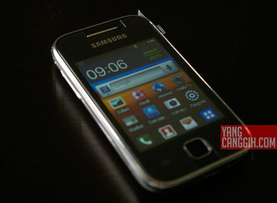 Samsung Galaxy Y desain Review: Samsung Galaxy Y CDMA (SCH i509) smartphone review mobile gadget