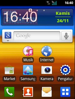 samsung galaxy y homescreen Review: Samsung Galaxy Y CDMA (SCH i509) smartphone review mobile gadget