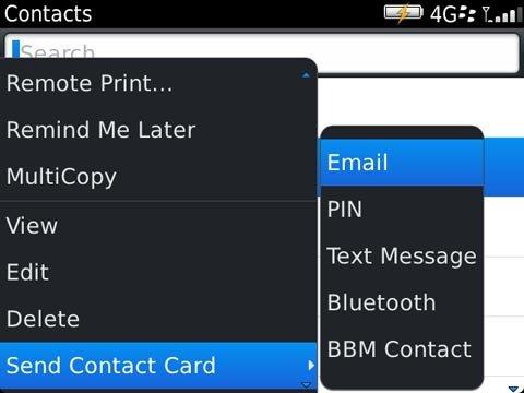 Blackberry Vcard 1 Tips : Cara Cepat Kirim Daftar Kontak di Blackberry OS6 dan OS7 tips