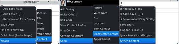 Blackberry Vcard 2 Tips : Cara Cepat Kirim Daftar Kontak di Blackberry OS6 dan OS7 tips