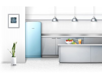 samsung refrigerator rainbow series Samsung Refrigerator Rainbow Series: Lemari Es Satu Pintu Warna Warni home gadget