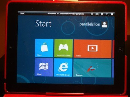 parallels desktop 7 untuk iPad windows 8 consumer preview Parallels Mobile App: Mencicipi Windows 8 pada iPad dan iPhone ios iphoneipad aplikasi