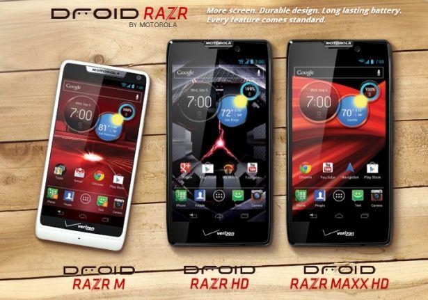 trio razr Motorola Droid M, RAZR HD & Maxx HD: Bodi Tipis, Layar Lebar, Baterai Tahan Lama smartphone news mobile gadget