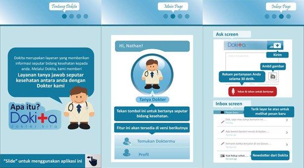 dokita featured image Dokita (Dokter Kita): Konsultasi Kesehatan Dengan Dokter Pribadi di Ponsel symbian ios iphoneipad blackberry aplikasi android