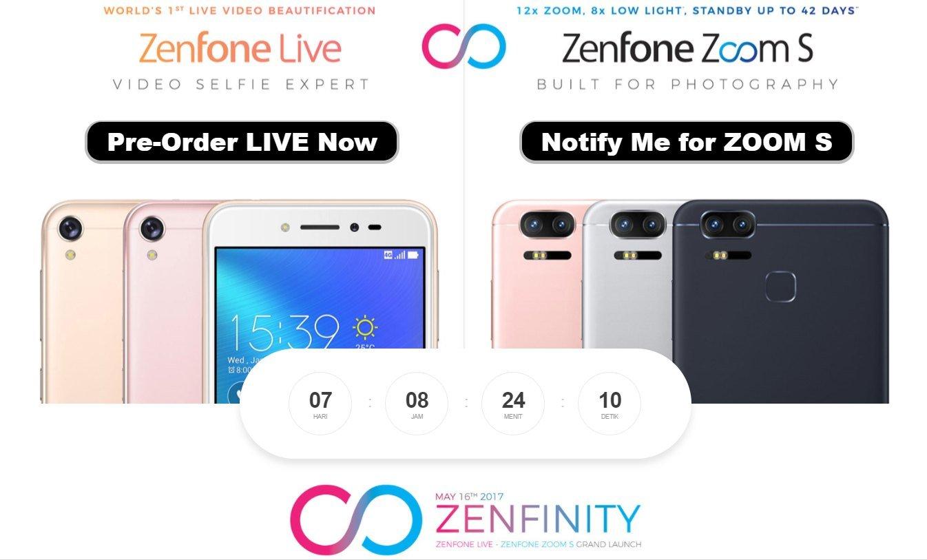 ASUS Buka Pre Order ZenFone Live Dan Zoom S