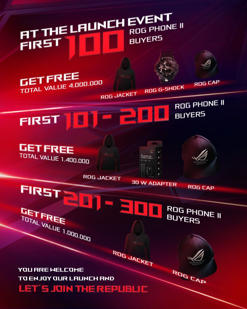 Asus Siapkan Bonus Hingga 4 Juta Rupiah Bagi 300 Pembeli ROG Phone II Pertama 17 android, asus, Asus ROG Phone II, gaming