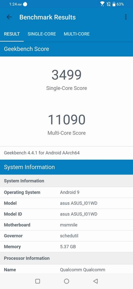 ZenFone 6 Geekbench