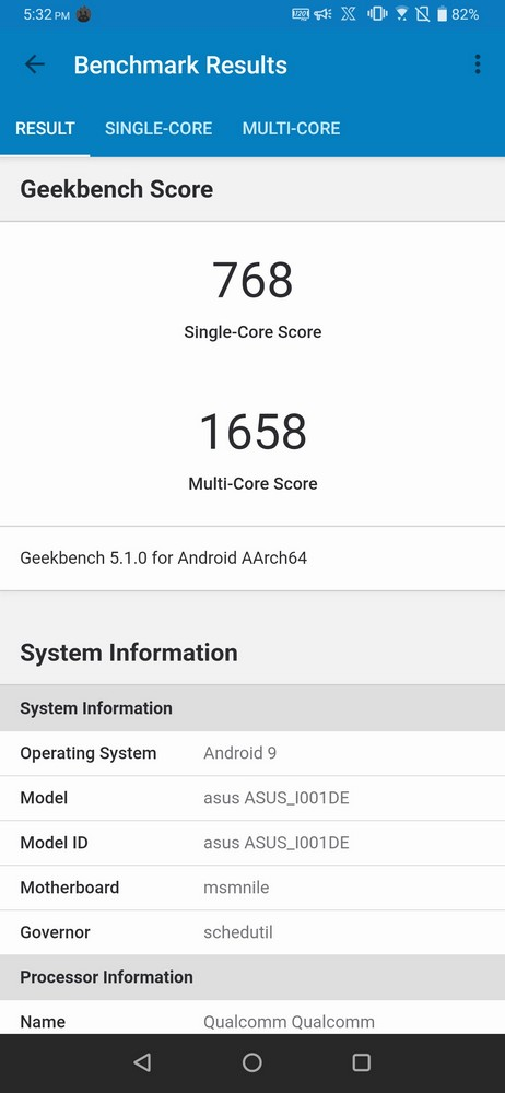 ROG Phone II Geekbench 5