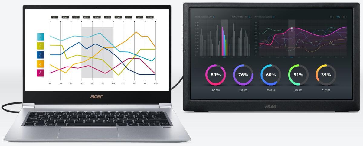 Acer PM1: Monitor Full HD Portabel dengan USB-C yang Paling Terjangkau 17 acer, acer pm1, harga, monitor portabel, spesifikasi