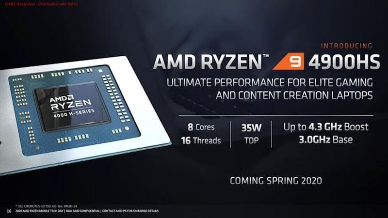AMD Ryzen 9 H-Series: Prosesor Mobile yang Kencang dan Hemat Daya Untuk Laptop Gaming 2 amd, AMD Ryzen, AMD Ryzen 9 4900H, AMD Ryzen 9 4900HS, harga, harga AMD Ryzen 9 4900H, harga AMD Ryzen 9 4900HS, spesifikasi AMD Ryzen 9 4900H, spesifikasi AMD Ryzen 9 4900HS